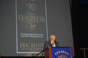 Larry brown speaking at arkansas boys state eric blehm