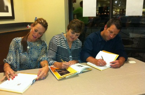 Fearless book signing with Brown family and Eric Blehm